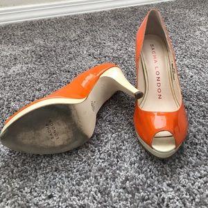 Sacha London Shoes - Size 7 sacha London peep toe heels